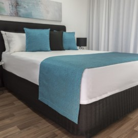 Ashgrove Teal Bed Runner