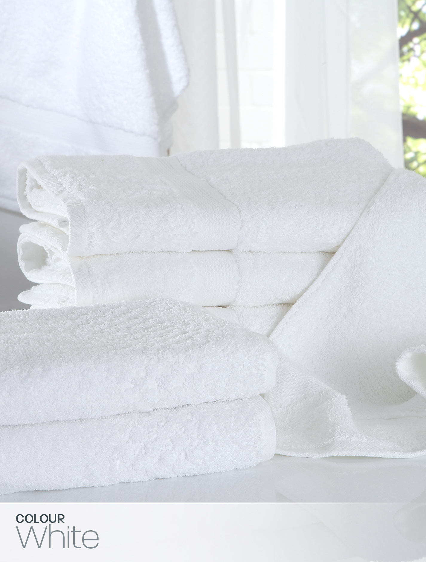Actil White Super Deluxe Towels Bath Sheet Accommodation Linen