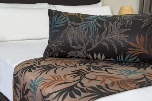 Barrington Ochre Rev Bed Runner & Cushion