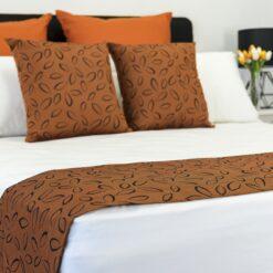 Laura Copper Rev Bed Runner - Orange