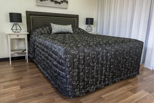 Laura Silver bedspread